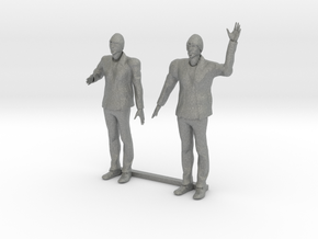 O Scale Bearded Man Shaking Hands - Waving in Gray Professional Plastic