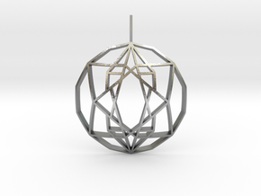 Star of Hope (Domed) in Natural Silver