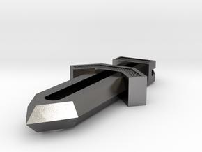 Dagger Pendant in Polished Nickel Steel