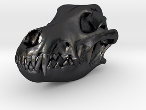 wolfskullbasefinal2.4 in Polished and Bronzed Black Steel