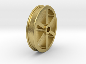 NRW01a Nantlle Railway Wagon Wheel, Single 16mm in Natural Brass