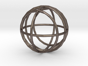 Globe Sphere in Polished Bronzed-Silver Steel