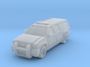 Chevy Suburban Police 2009 in Smoothest Fine Detail Plastic: 1:200