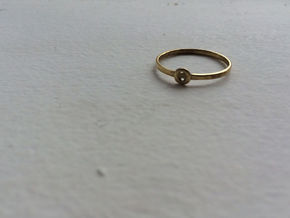 O Ring in Polished Brass