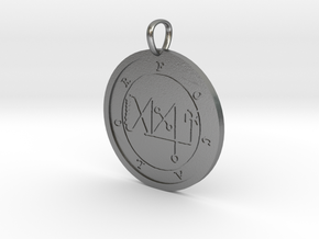 Focalor Medallion in Natural Silver