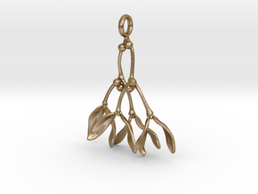 Mistletoe Pendant in Polished Gold Steel