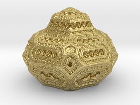 geometric ornament in Natural Brass