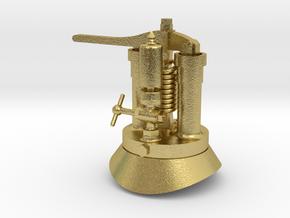 Quarry Hunslet Steam Turret for DOLBADARN (SM32) in Natural Brass