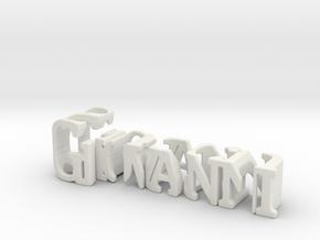 3dWordFlip: Giovanni/Succu in White Natural Versatile Plastic