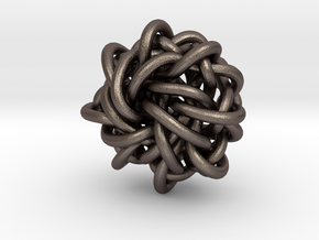 B&G Knot 17 in Polished Bronzed-Silver Steel