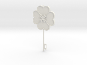 DUMPTY KEY in White Natural Versatile Plastic