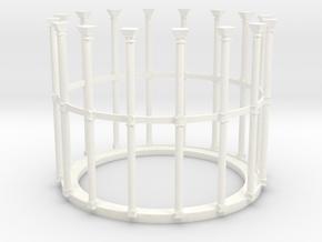 Victorian Gasholder in White Processed Versatile Plastic