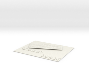 mouse mat in White Natural Versatile Plastic
