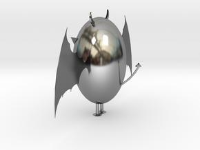 Demon Egg in Antique Silver