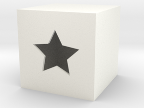 Star Box in White Processed Versatile Plastic