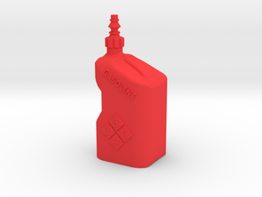 Gasoline Tuf Jug Fluid Container 1Tenth Scale in Red Processed Versatile Plastic