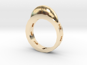 Magnetic buckle ring  in 14K Yellow Gold: Small