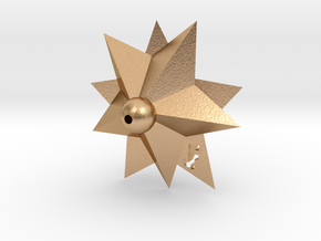 Round Stars  in Natural Bronze: Small