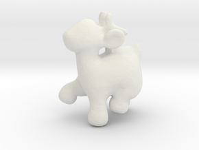 Cartoon deer keychain 6 in White Natural Versatile Plastic