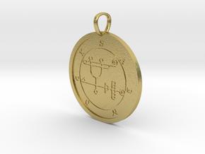 Sabnock Medallion in Natural Brass