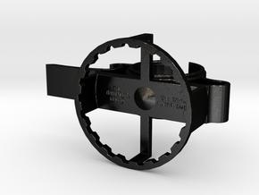 3-in-1 Bartenders Ring (Model A) in Matte Black Steel: Small