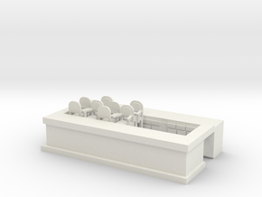Overlook Bar Base - HO 87:1 Scale in White Natural Versatile Plastic