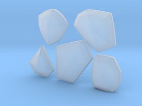 Cosplay Club Cuff Crystals in Smooth Fine Detail Plastic: Medium