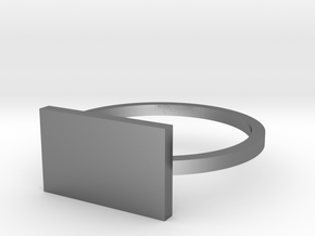 Rectangle 14.05mm in Polished Silver