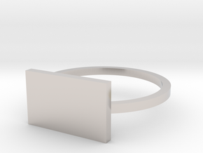 Rectangle 14.56mm in Rhodium Plated Brass