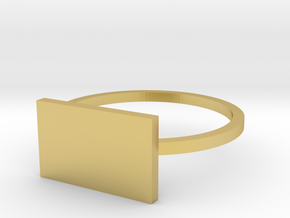 Rectangle 15.27mm in Polished Brass
