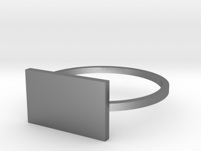Rectangle 17.35mm in Polished Silver