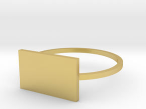 Rectangle 18.53mm in Polished Brass