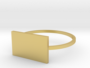 Rectangle 19.84mm in Polished Brass