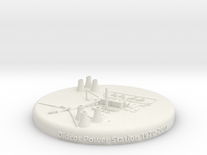 Didcot Power Station 1:15000 in White Natural Versatile Plastic