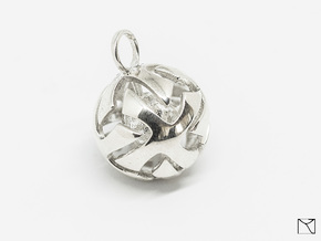 Ball Pendant in Polished Silver