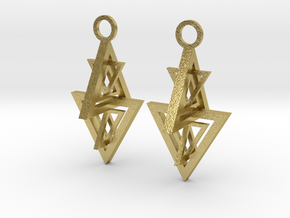 Earing in Natural Brass