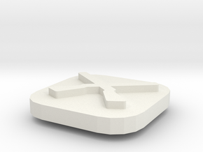 Recruitment Center Token in White Natural Versatile Plastic