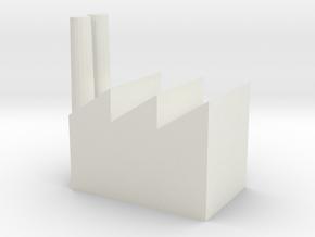 Industrial Complex in White Natural Versatile Plastic