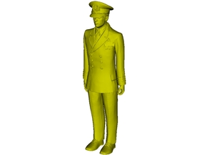 1/72 scale US Navy officer figure in Smoothest Fine Detail Plastic