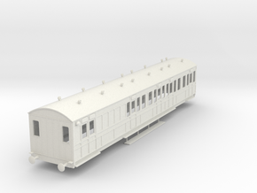 o-43-rhymney-railway-brk-3rd-two-open-saloon-coach in White Natural Versatile Plastic