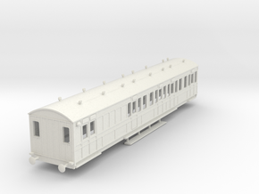 o-87-rhymney-railway-brk-3rd-two-open-saloon-coach in White Natural Versatile Plastic