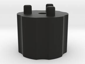 Emek/Etha 2 Bolt Cap - REVOLVER in Black Natural Versatile Plastic