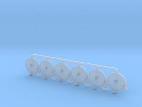6 Stück Schlauch C-Rohr ohne Halter 1:35 in Smooth Fine Detail Plastic