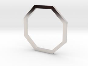 Octagon 13.21mm in Rhodium Plated Brass
