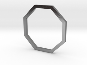 Octagon 13.61mm in Polished Silver