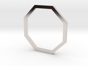 Octagon 14.05mm in Rhodium Plated Brass