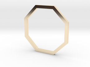 Octagon 14.56mm in 14k Gold Plated Brass