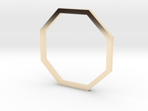 Octagon 15.70mm in 14k Gold Plated Brass