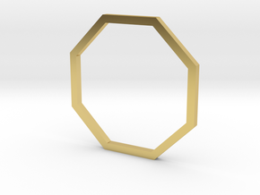 Octagon 16.00mm in Polished Brass