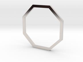Octagon 16.00mm in Rhodium Plated Brass